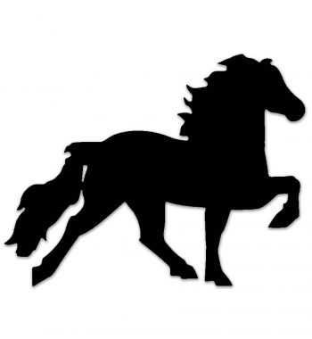 Islandsk hest klistermærke sort