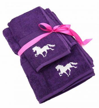 WLH håndklæde med broderi