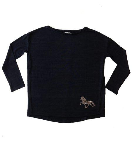 Heimaey Mana trøje med islandsk hest