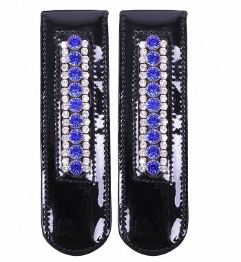 Støvle clips med blå og klare sten