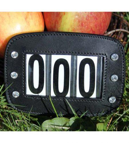 Stævnenummer i læder